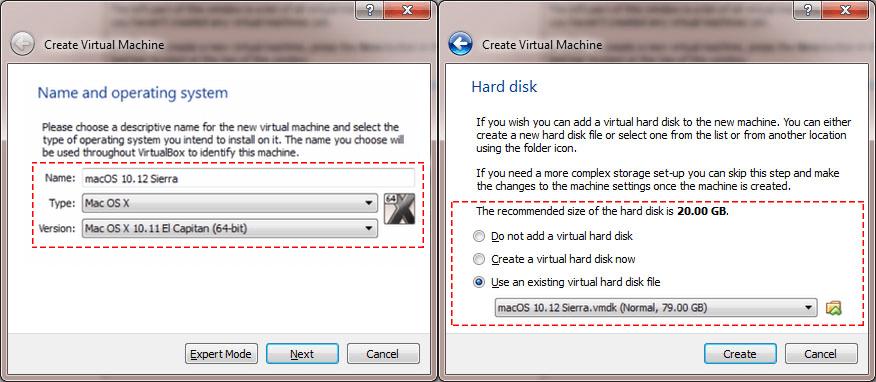 Install macOS Sierra in VirtualBox on Windows 10