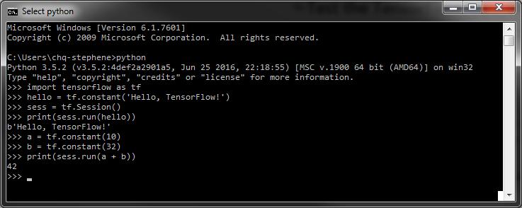 Install TensorFlow on Windows