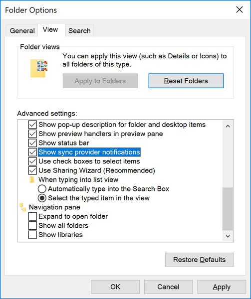 Turn off File Explorer Ads