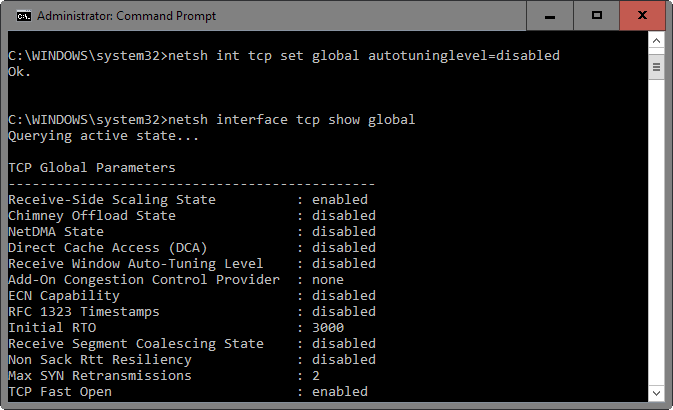 Slow Internet on Windows 10