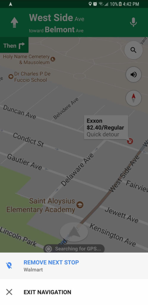 Add a Stop in Google Maps