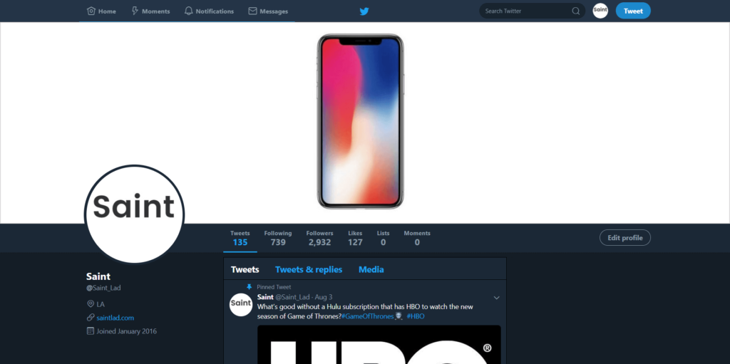 enable night mode on twitter on PC