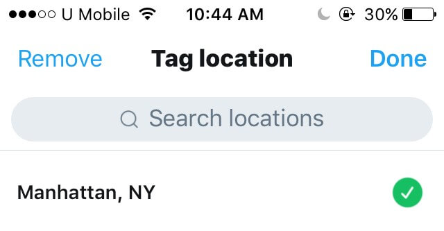 turn off location sharing on Twitter