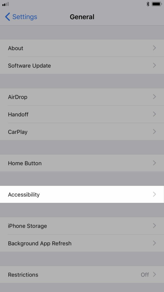 turn iphones auto brightness off ios 11