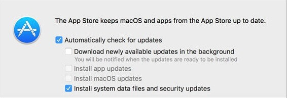 disable macOS software update upgrade notifications