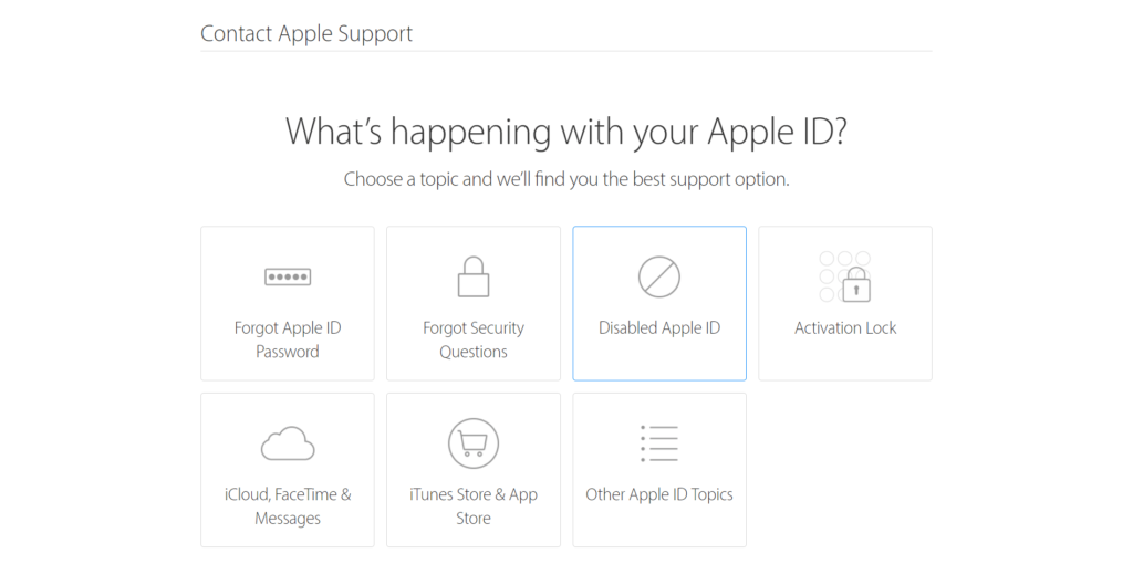 Apple ID is disabled