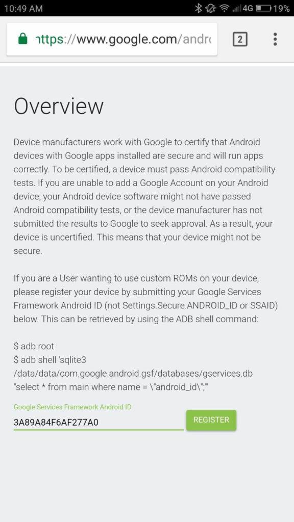Fix Device Not Certified by Google error