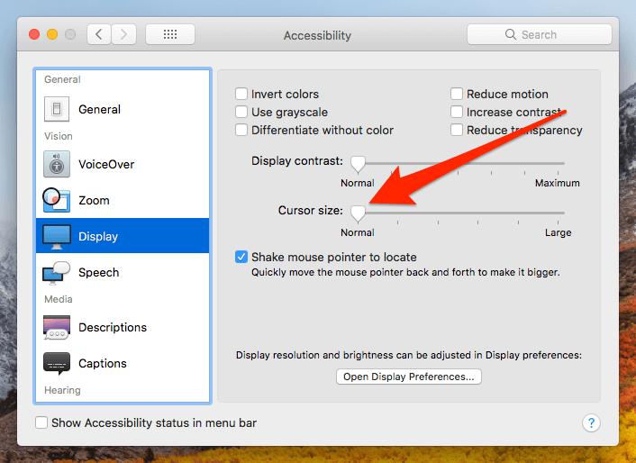 disappearing cursor in high sierra 10.13.1