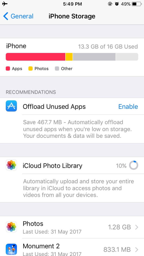 reduce reddit app storage size on iphone