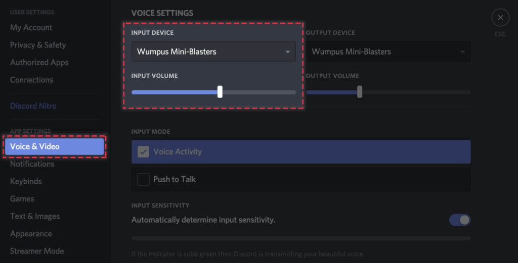 discord mic not working